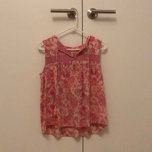 Rebecca Taylor Floral Silk Top, Size 0